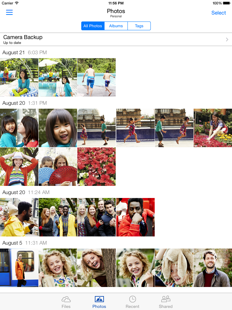 Photos on OneDrive for iOS