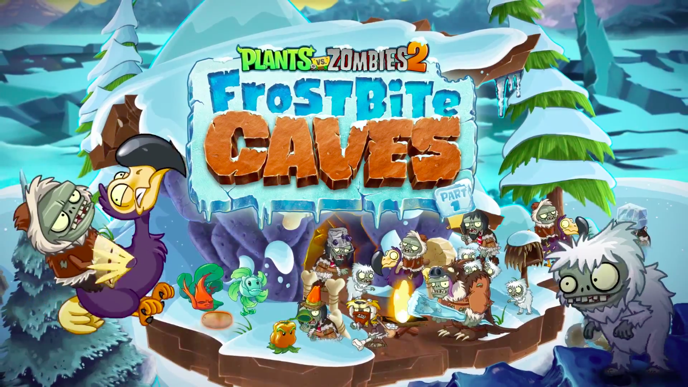 Plants vs. Zombies 2 updated with arctic and prehistoric Frostbite Caves levels