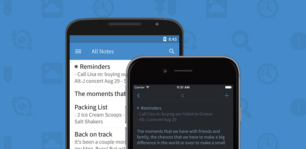 Take note of Simplenote's new and improved versions on iOS and Mac