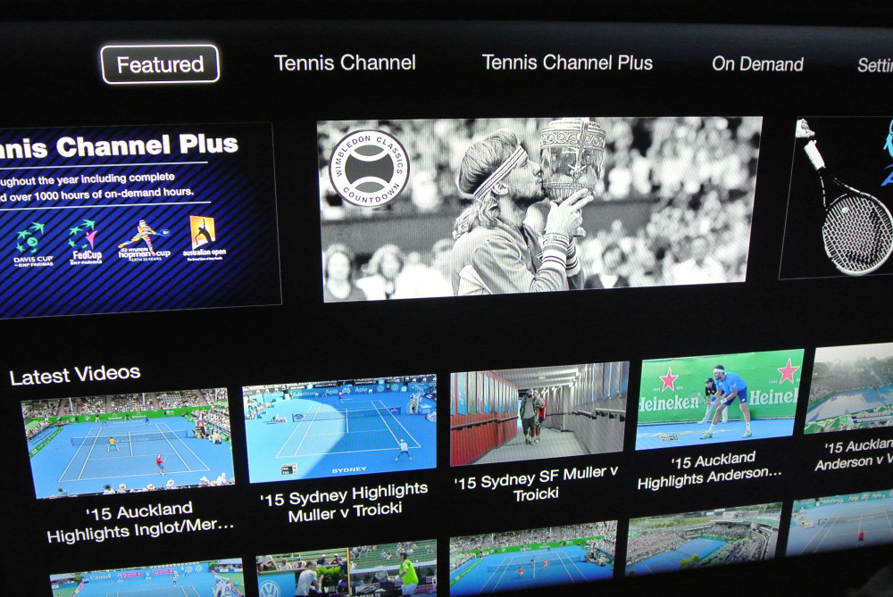 Tennis Channel Everywhere on Apple TV