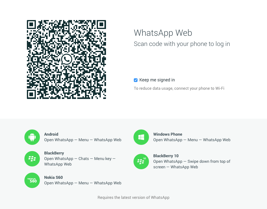 WhatsApp on the Web