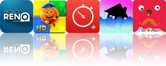 Today's apps gone free: Project Reno, Merry Cubes, Stopwatch and more