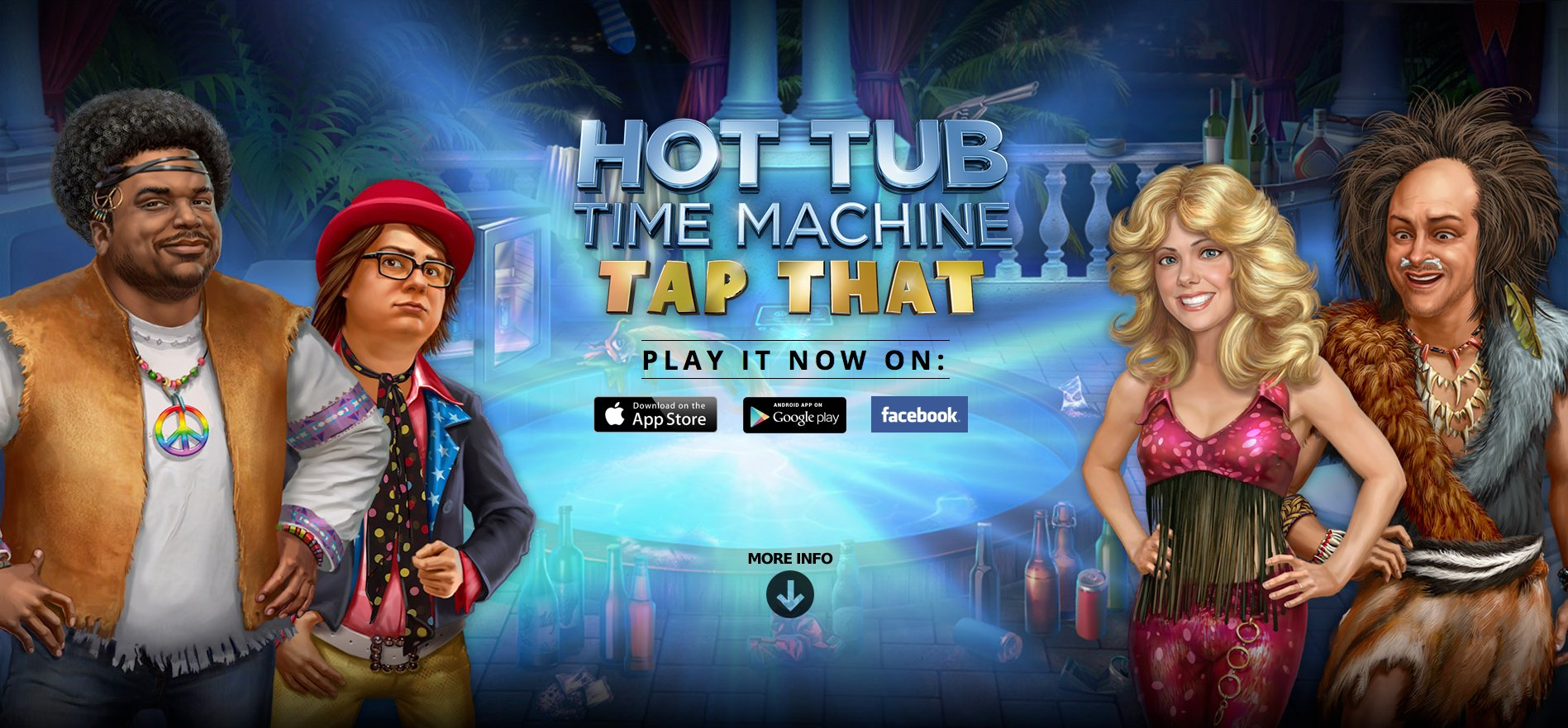 Hot Tub Time Machine: Tap That lands on the App Store full of raunchy fun