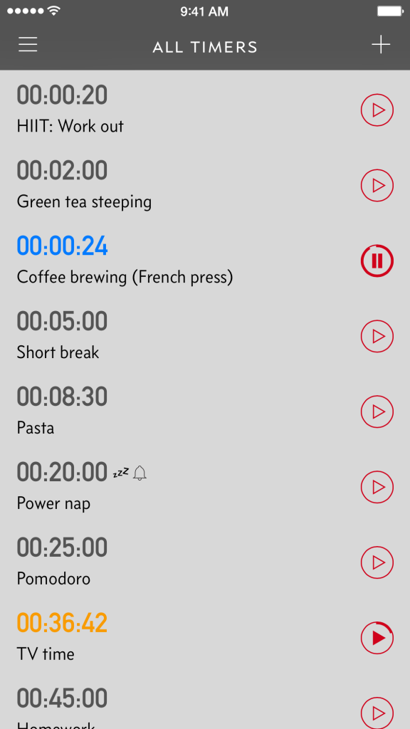Now you can pause and resume your timers too.
