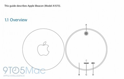 Apple iBeacon device detailed in user manual published by FCC