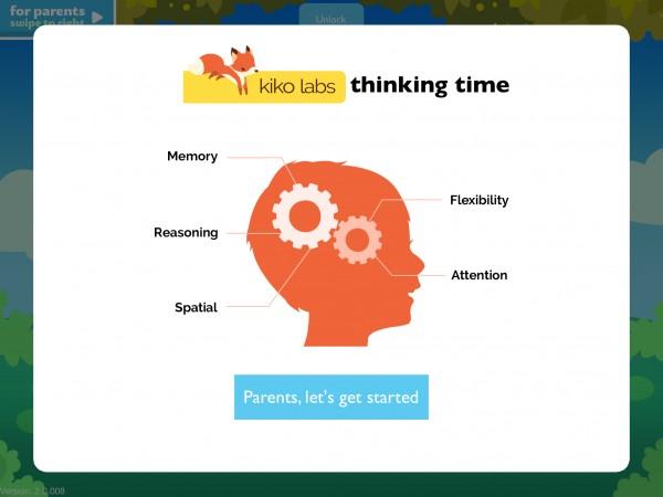 Kiko's Thinking Time brings brain-training games to children