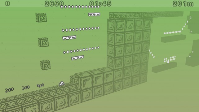 Put your platformer skills to the test and see how far you can go in 1-bit Ninja Remix Rush