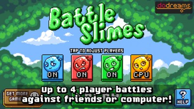 Duke it out with your friends in Battle Slimes, a local multiplayer arcade brawler