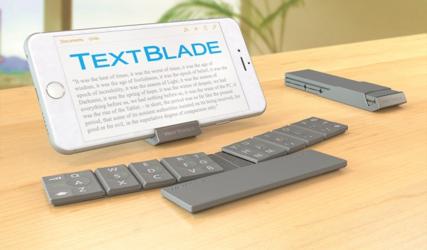The TextBlade keyboard from WayTools brings a new typing experience to the iPhone or iPad