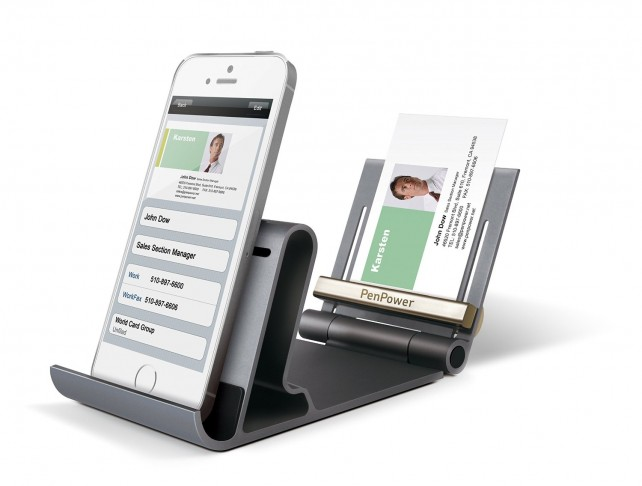 The WorldCard Mobile Phone Kit makes scanning business cards even easier