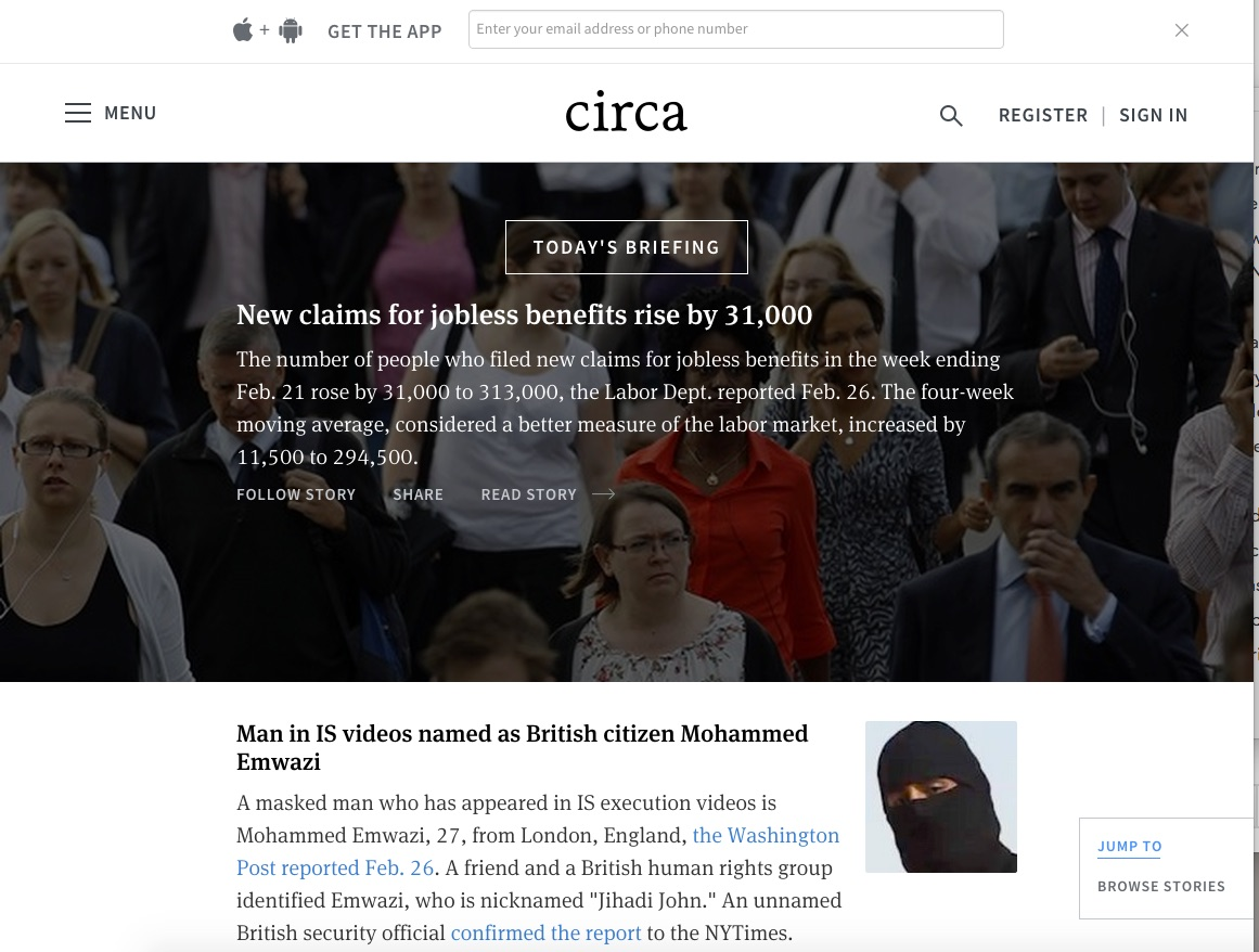 Circa unveils mobile-friendly Web app