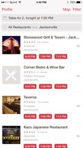 OpenTable Restaurants