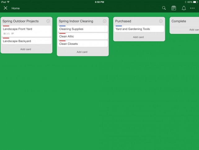 Trello Home Board