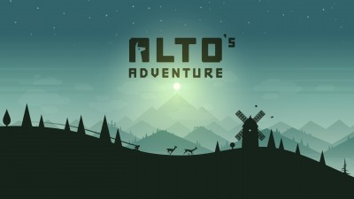 Snowboard down beautiful slopes in the upcoming Alto's Adventure
