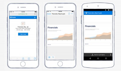 Dropbox users can now open shared links directly from the iOS app