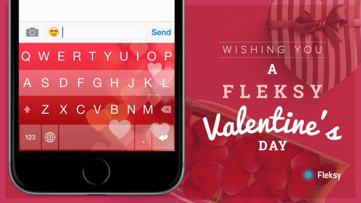 Fleksy Keyboard update brings iCloud sync, Valentine's Day content and more
