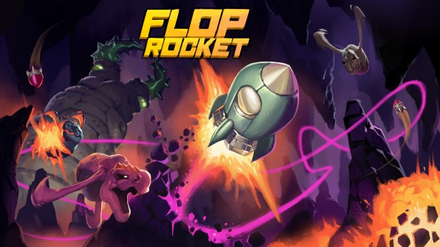 Pilot through a chaos filled cave in the upcoming Flop Rocket