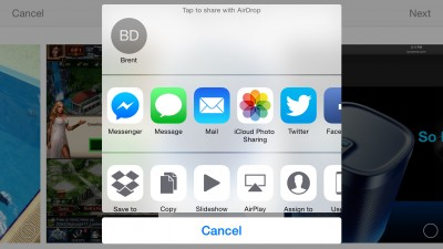 Facebook Messenger update brings an iOS 8 share extension