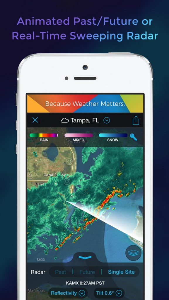 Track the storms and get fully detailed weather information in Storm, our Honorable Mention for the week.