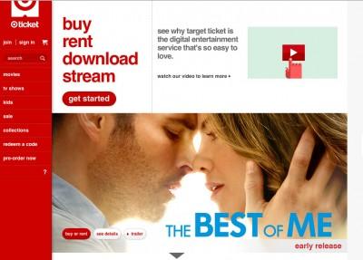 The Target Ticket video-on-demand service will shut down next month