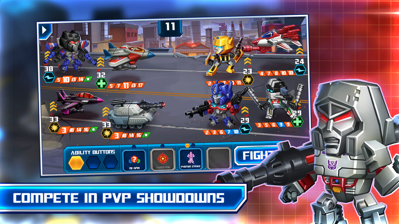 Assemble a dream team of Decepticons and Autobots in Transformers: Battle Tactics