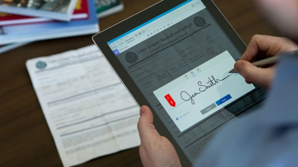 Adobe Document Cloud allows you to sign and sync your PDFs