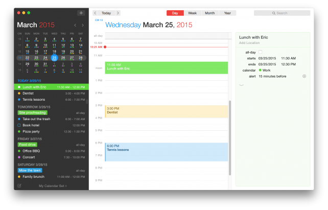 Fantastical 2 for Mac Day View