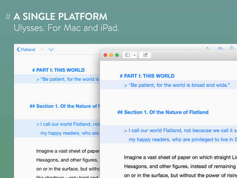 Ulysses, the powerful text editor for Mac, comes to Apple's iPad