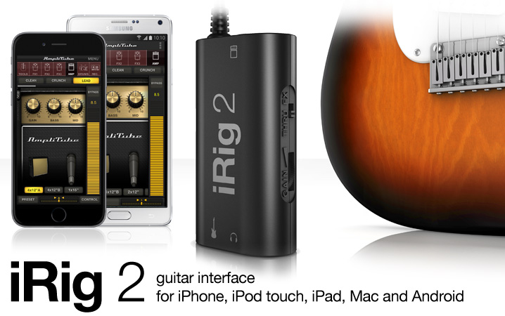 IK Multimedia launches iRig 2 guitar interface for Apple's iOS devices