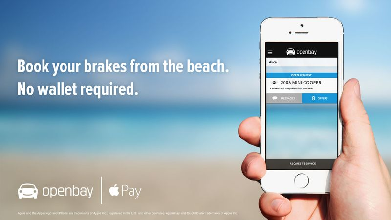 Openbay, the popular auto repair iOS app, now supports Apple Pay