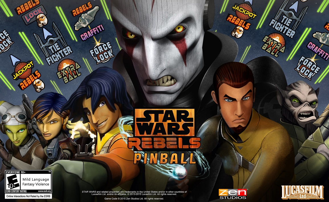 'Star Wars: Rebels'-inspired table is heading to Zen's Star Wars Pinball