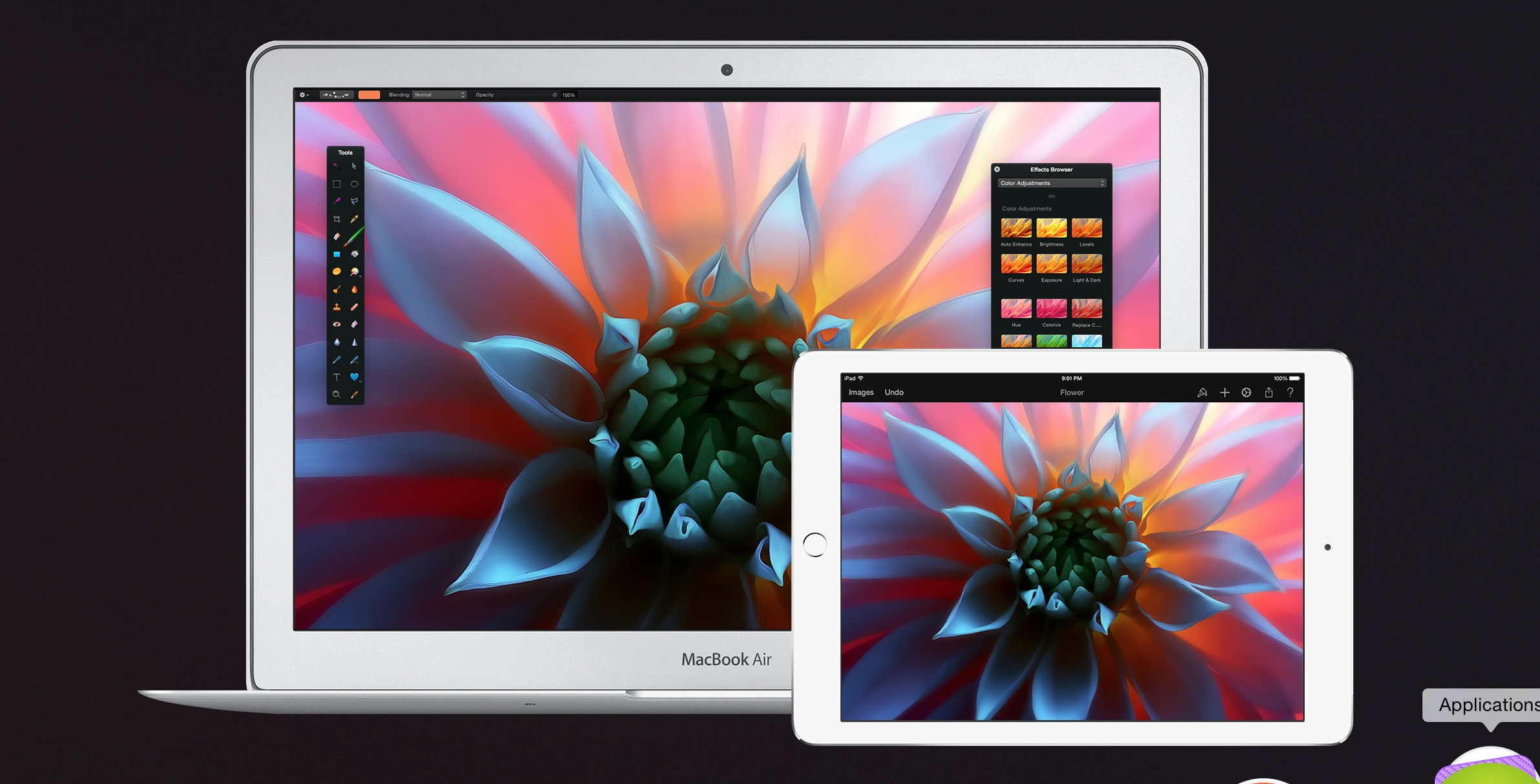 Pixelmator 1.1 for iPad adds watercolor painting, a new Color Picker and more