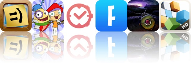 Today's apps gone free: Stickyboard 2, Mati and Dada, aTimeLogger and more