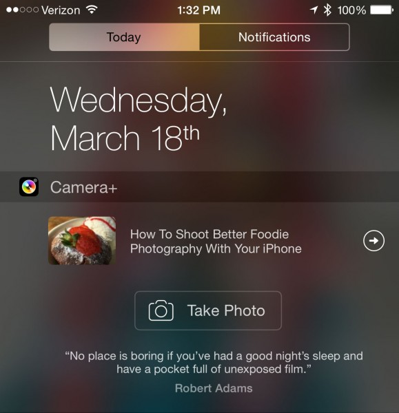 Camera+ update ushers in Notification Center widget, direct Instagram sharing and more