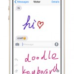 Doodle Keyboard lets you hand draw your text messages