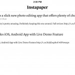 Nice Instapaper update brings speed reading feature, the ability to share text shots via Twitter and more