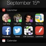 The Launcher iOS 8 Notification Center widget is returning to the App Store