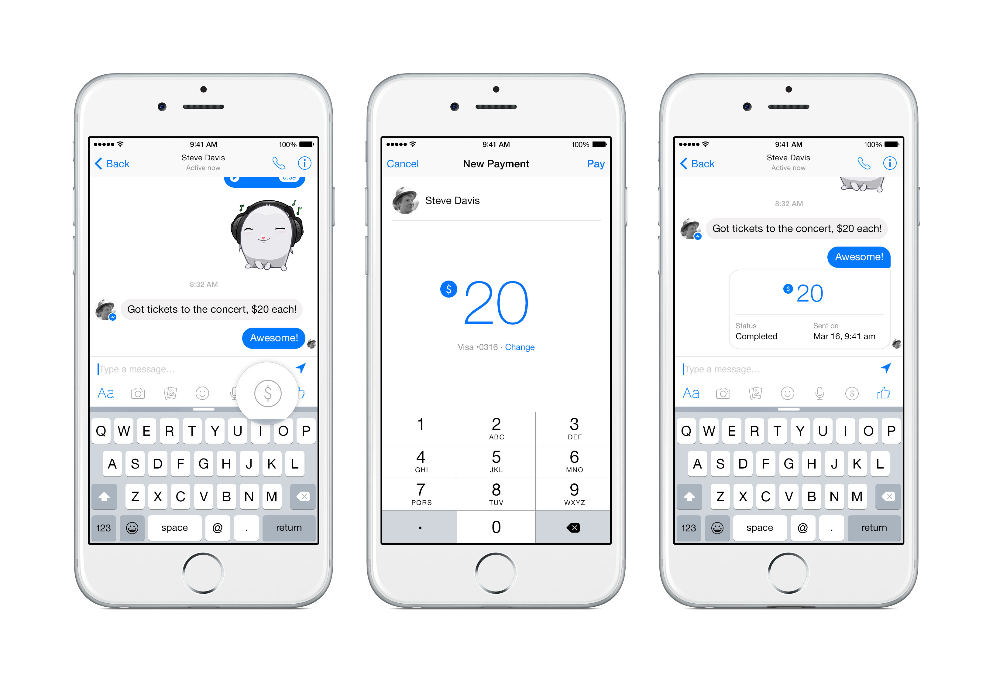 Facebook Messenger users will soon be able send and receive money from the app