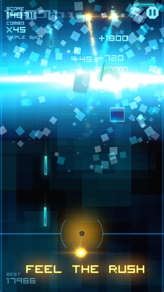 Use physics and momentum to smash the particles in Blokshot Revolution, a challenging arcade game
