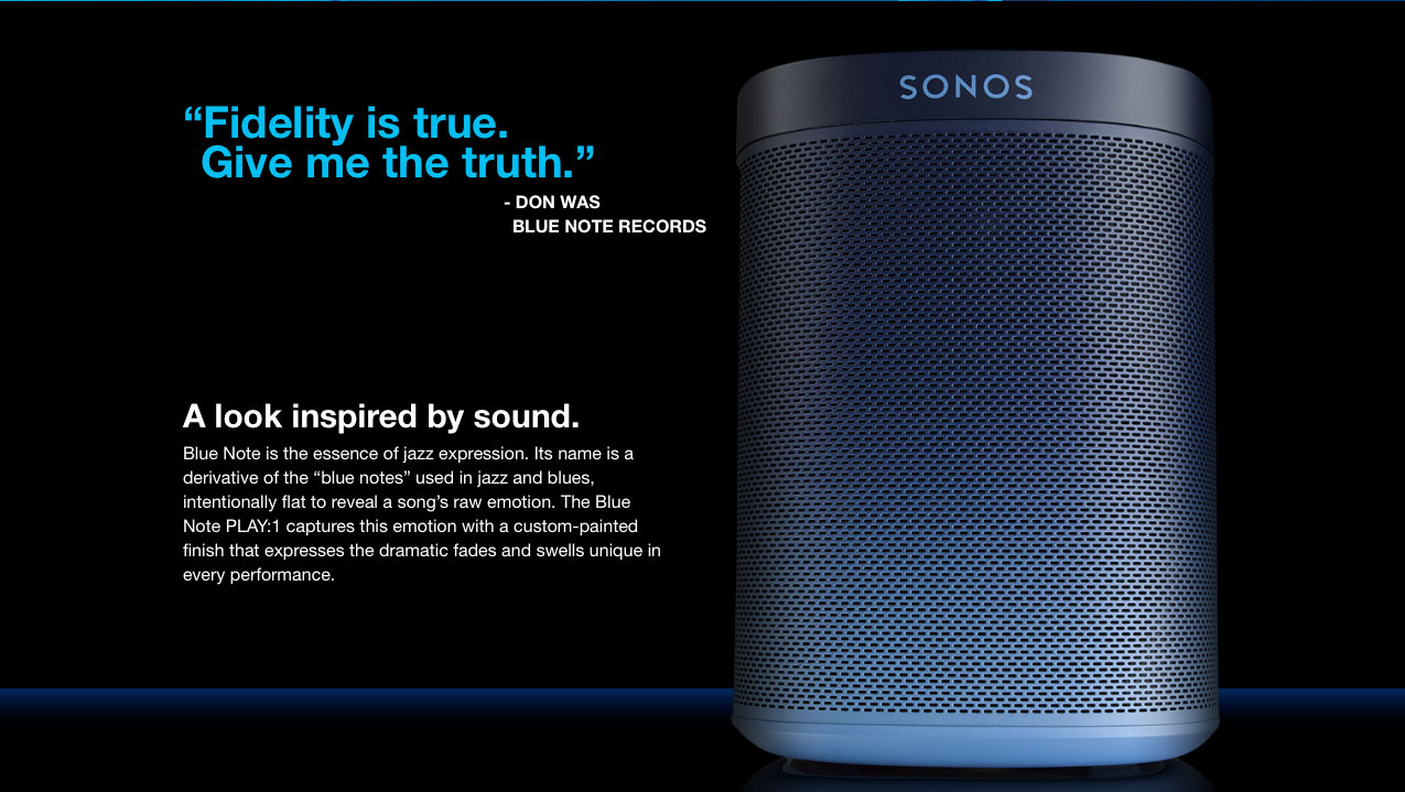 You can now purchase the unique Blue Note Play:1 wireless speaker from Sonos