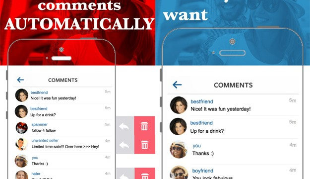 Spotless helps you regain control over Instagram comments