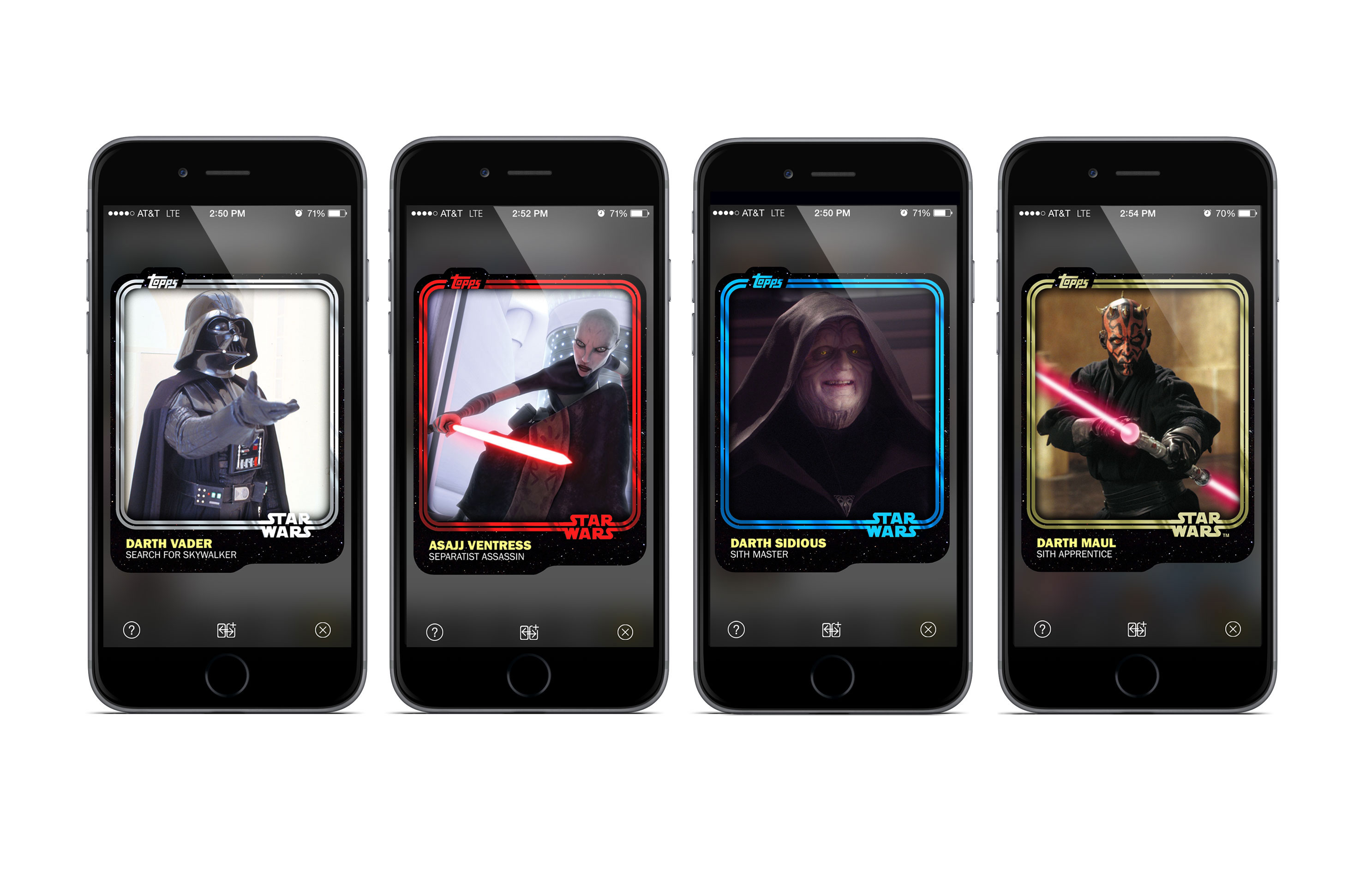 The new Star Wars: Card Trader app from Topps features digital cards from 'Star Wars: The Force Awakens'