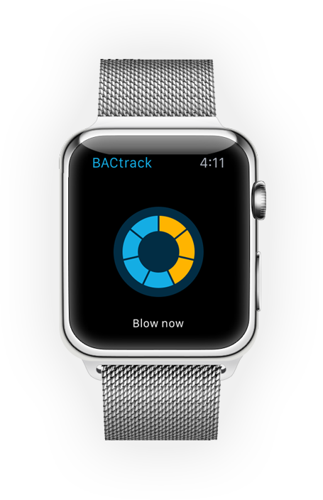 Bactsrack's Apple Watch app.