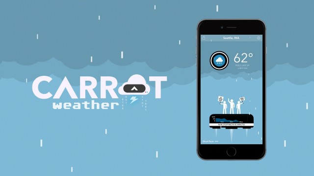 Carrot Weather delivers the forecast and a side of snark to your Apple Watch