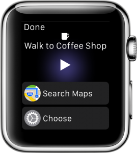 We're thrilled to see that workflows can run natively on the Apple Watch.