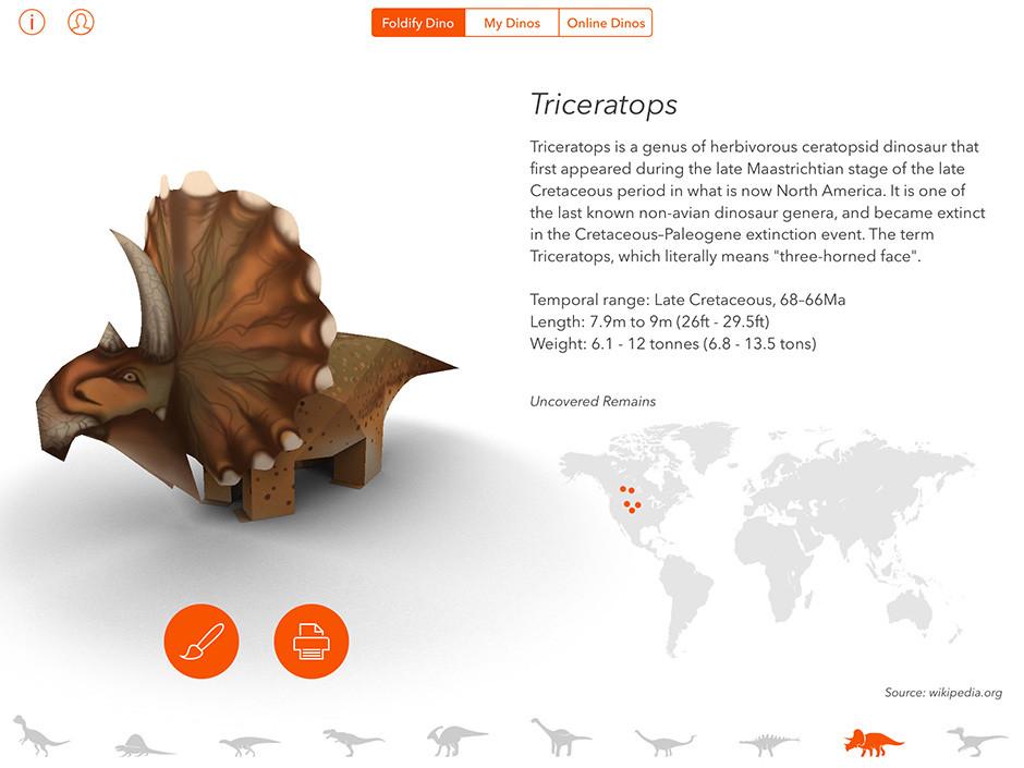 Foldify Dinosaurs