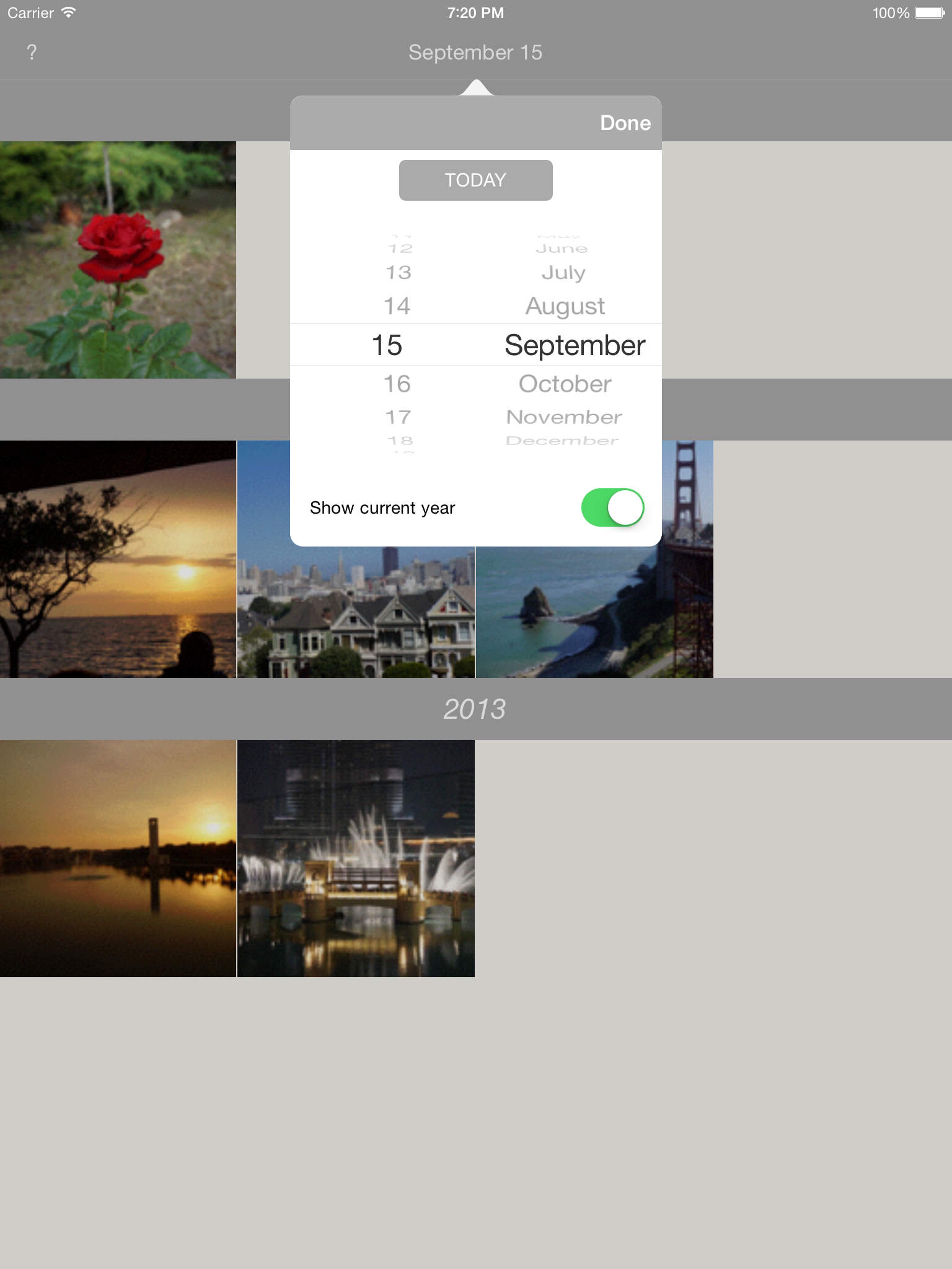 Photo Flashback, the iOS photo time machine, is now even better