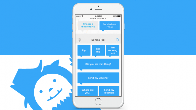 AOL's Yo-like Pip app goes 2.0 with international support, custom messages and more