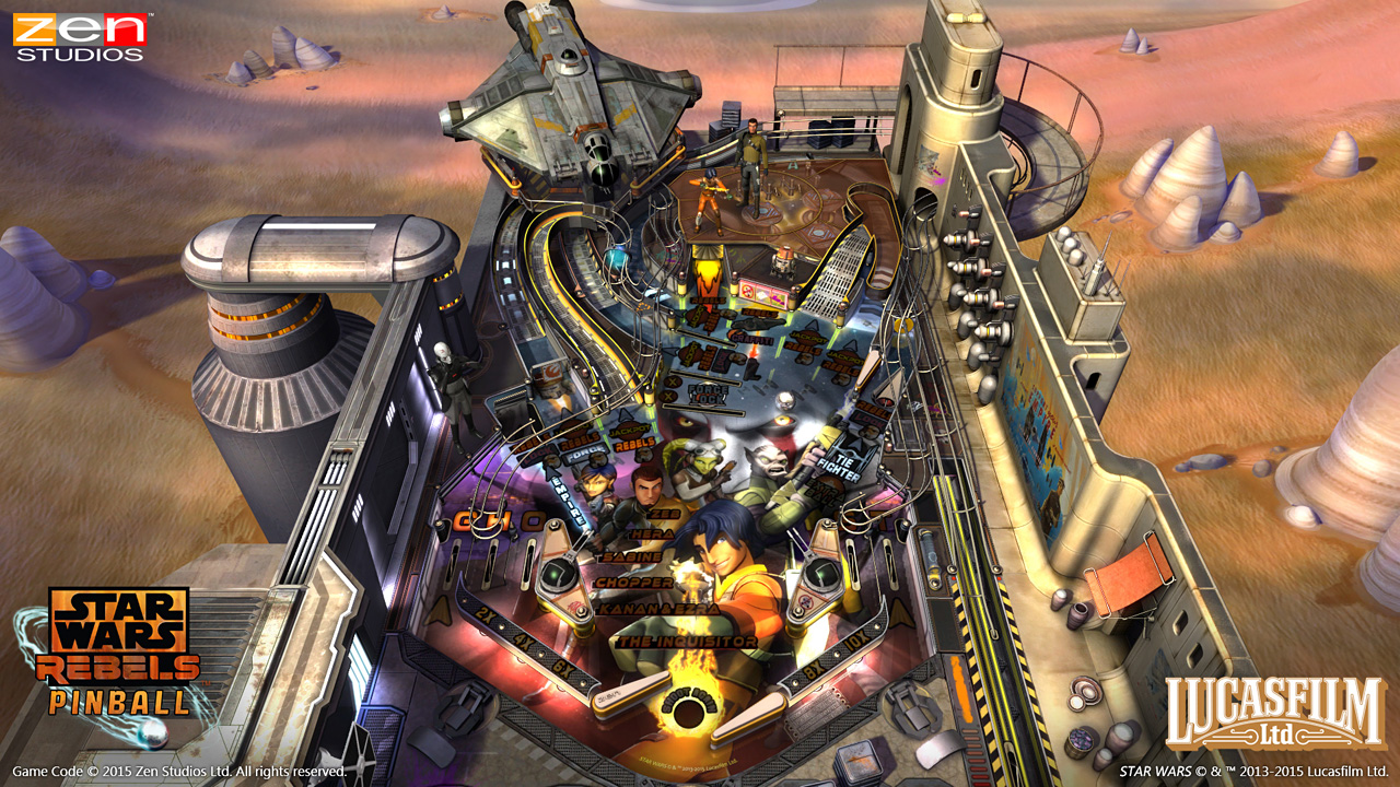 Fight the Empire with a new Star Wars: Rebels pinball table