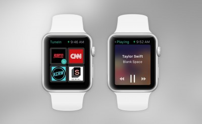 Use CarPlay or your Apple Watch to control TuneIn Radio